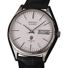 Seiko Type II Stainless Steel Vintage 37mm Mens Watch