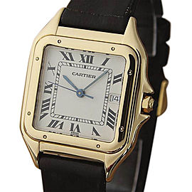 Cartier Panthere LV100 18K Yellow Gold / Leather 28mm Unisex Watch