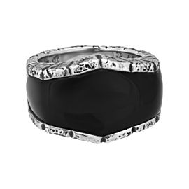Stephen Webster 925 Sterling Silver Highwayman Oxidised Inlay Onyx Ring Size 10