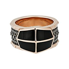 Stephen Webster 925 Sterling Silver Highwayman Onyx Inlay & Black Sapphire Ring Size 11