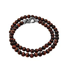 Stephen Webster 925 Sterling Silver Bulls Eye Beads & Black Sapphire Thorn Double Wrap Bracelet
