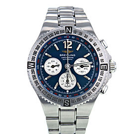 Breitling Hercules 39362 Stainless Steel Blue Dial Automatic 45mm Mens Watch 2004