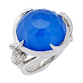 Stephen Webster 925 Sterling Silver Forget Me Knot Diamond Barb Ring Size 7