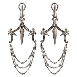 Stephen Webster 925 Sterling Silver Superstud Large Chandelier Earrings