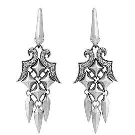 Stephen Webster 925 Sterling Silver Superstud Diamond Dangle Earrings
