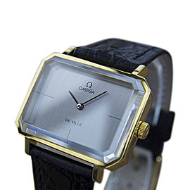 Omega DeVille MX22 Stainless Steel & Gold Plated with Gray Dial Vintage 32mm Mens Watch