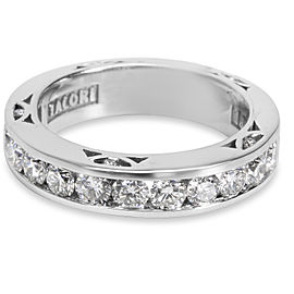 Tacori 18K White Gold 1.20ct Diamond Engagement Band Ring