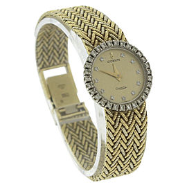 Corum 18K Yellow Gold Quartz Vintage 21mm Womens Watch
