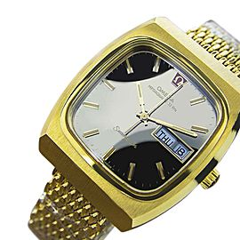 Omega Seamaster EB119 Stainless Steel with Gold Plated with Black Dial Vintage 40mm Mens Watch