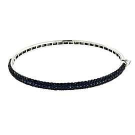 Effy 14K White Gold 2.68ct Sapphire Bangle Bracelet