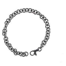 Gurhan 925 Sterling Silver & Palladium Round Link Bracelet