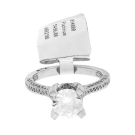 Tacori 950 Platinum .30ct. Diamond Engagement Ring Size 6.25