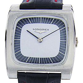 Longines Stainless Steel / Leather Vintage 32mm Mens Watch