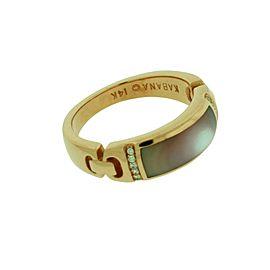 Kabana 14K Rose Gold Diamond, Mother Of Pearl, Pearl Bracelet Size 6.5mm