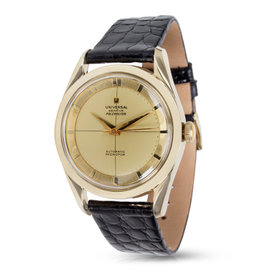 Universal Geneve Polerouter Gold Plated 34mm Mens Vintage Watch