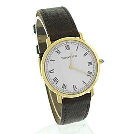Tiffany & Co. M1530 18K Yellow Gold Quartz 33mm Unisex Watch