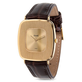 Piaget Dress 99121 18K Yellow Gold & Leather Manual 29mm Unisex Watch