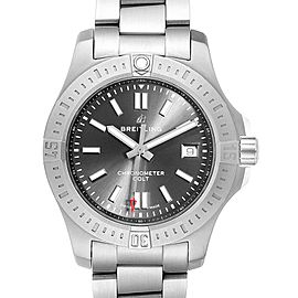 Breitling Colt Grey Dial Automatic Steel Mens Watch A17313 Box Card