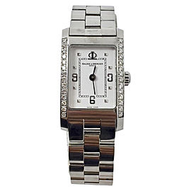 Baume & Mercier Hampton 65406 Stainless Steel With Diamonds Quartz 20.2mm Womens Watch