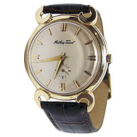 Mathey Tissot 14K Yellow Gold Vintage 35mm Mens Watch 1960s