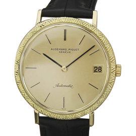 Audemars Piguet 18K Gold Automatic Swiss Mens 34mm Watch 1970s