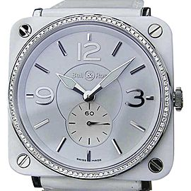 Bell & Ross Ceramic Diamond Quartz 39mm Luxury Dress Womens Watch 2010