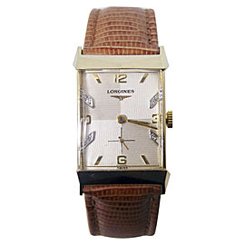 Longines 14K Yellow Gold Vintage 21.5 mm Mens Watch 1940s