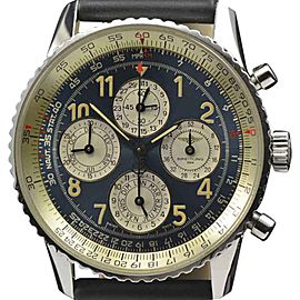 Breitling Navitimer A38022 Perpetual Calendar Chronograph Stainless Steel 41.5mm Mens Watch