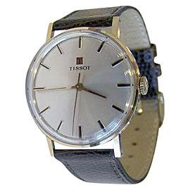 Tissot 14K Rose Gold / Leather Vintage 33.5mm Mens Watch