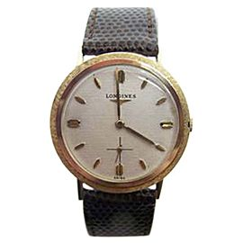 Longines 14K Yellow Gold Hand Winding Vintage 33.6mm Mens Watch