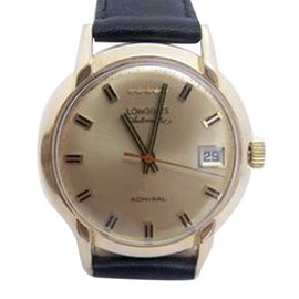 Longines Admiral 14K Yellow Gold Automatic Vintage 35mm Mens Watch