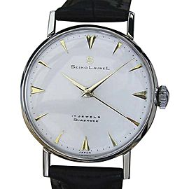 Seiko Laurel Stainless Steel Manual 33mm Mens Watch 1960s