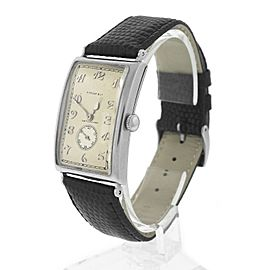 Tiffany & Co. Leather / Stainless Steel / Platinum Manual Vintage 25mm Mens Watch