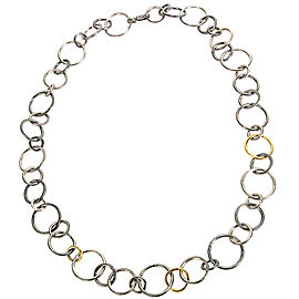 Gurhan Sterling Silver Hoop Necklace