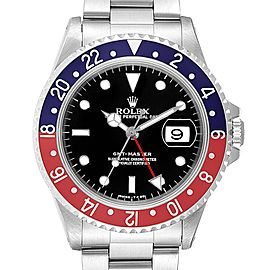 Rolex GMT Master II Pepsi Red and Blue Bezel Steel Mens Watch 16710