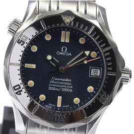 Omega Seamaster 300 2552.80 Stainless Steel Navy Dial Automatic 36mm Unisex Watch