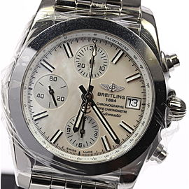 Breitling Chronomat W13310 Stainless Steel Mother of Pearl Dial Automatic 43mm Men's Watch