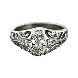 Tacori Platinum 0.97ctw Diamond Engagement Ring Size 3.5