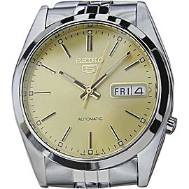 Seiko 5 7S26 Stainless Steel Silver Dial Automatic Vintage 36mm Mens Watch 1970