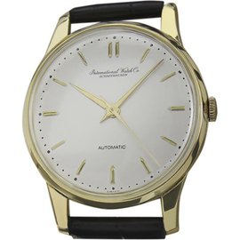 IWC Schaffhausen Calibre 852 18K Gold & Leather Automatic 35mm Mens Watch 1960's
