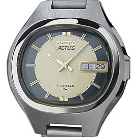Seiko Actus Stainless Steel Automatic 36mm Mens Watch 1970