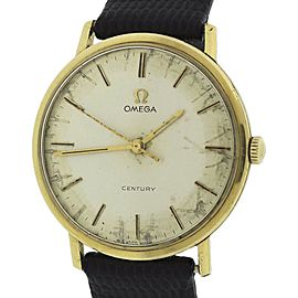 Omega Century 131026 18K Yellow Gold Silver-Toned 33mm Manual Vintage 33mm Mens Watch 1966