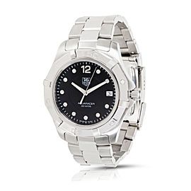 Tag Heuer Aquaracer WAF111C Stainless Steel Black Dial Quartz 38mm Men's Watch