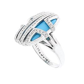 Di Modolo 18K White Gold Diamond, Turquoise Ring