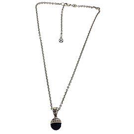 John Hardy 925 Sterling Silver & Black Onyx Necklace