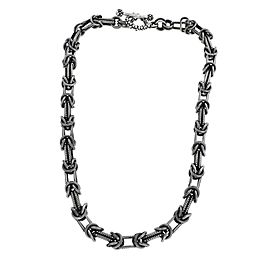 Stephen Dweck 925 Sterling Silver Heavy Chain Necklace