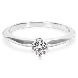 Tiffany & Co. Platinum 0.22ct Diamond Solitaire Engagement Ring Size 6