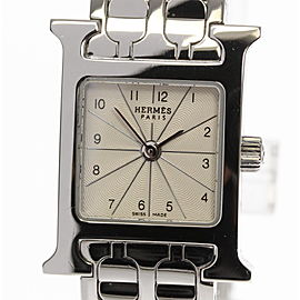 Hermes H Stainless Steel Quartz 17mm Womens Watch