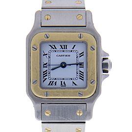 Cartier Santos 1170902 Stainless Steel & Yellow Gold Quartz 24mm Womens Watch