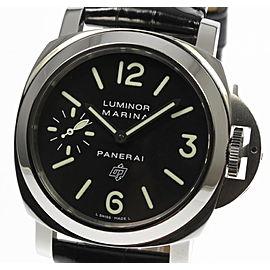 Panerai Luminor Marina PAM00005 Stainless Steel / Leather Manual 43mm Mens Watch